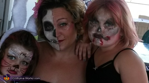 Face Painting with a Haunting Twist Costume