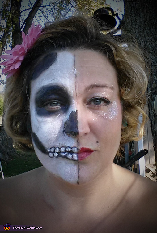 Face Painting with a Haunting Twist Homemade Costume