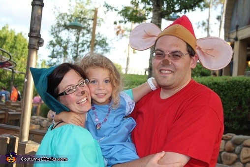 Fairy Godmother, Cinderella and Cinderella's Mice Homemade Costume