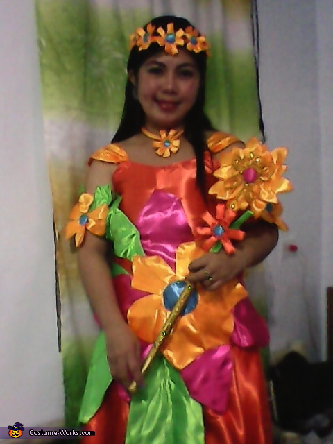 Fairy Queen of Flower Homemade Costume