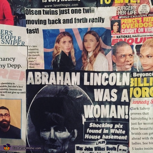 fake news articles, Fake News Costume