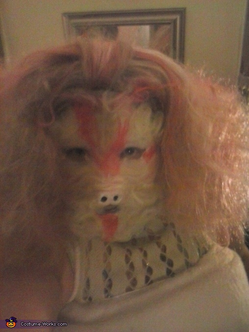 finished head complete with ears, Falkor Costume