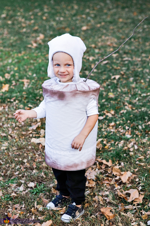 Toasted Marshmallow on a stick, Fall Camping Costume