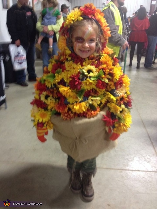 Fall Flowers, Fall Flower Pot Costume