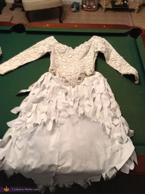 The dress, top and skirt put together, Fallen Angel Costume