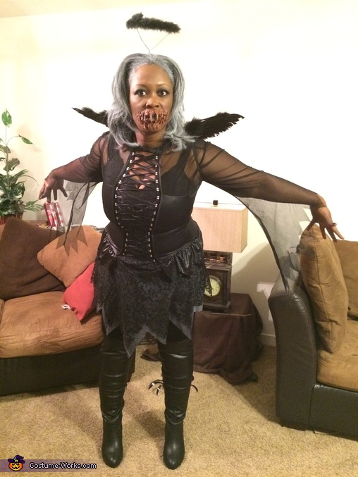 I wanted to see if I could fly, Fallen Angel Costume
