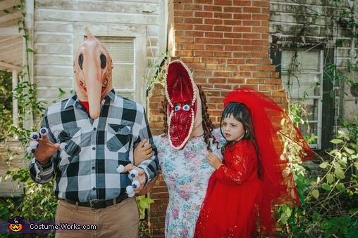 Family Beetlejuice Homemade Costume