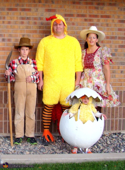 Homemade Family Farm Costume