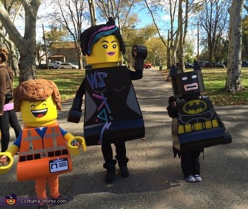 Family Lego Homemade Costume