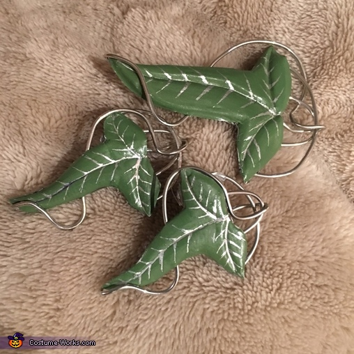 Their Leaves of Lorien that I made, Family of Hobbits Costume