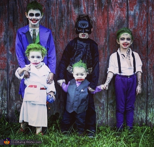 Family of Jokers and the Dark Knight Costume