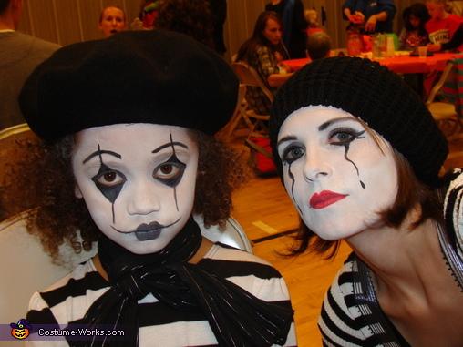 Mom and Kiana, Family of Mimes Costume