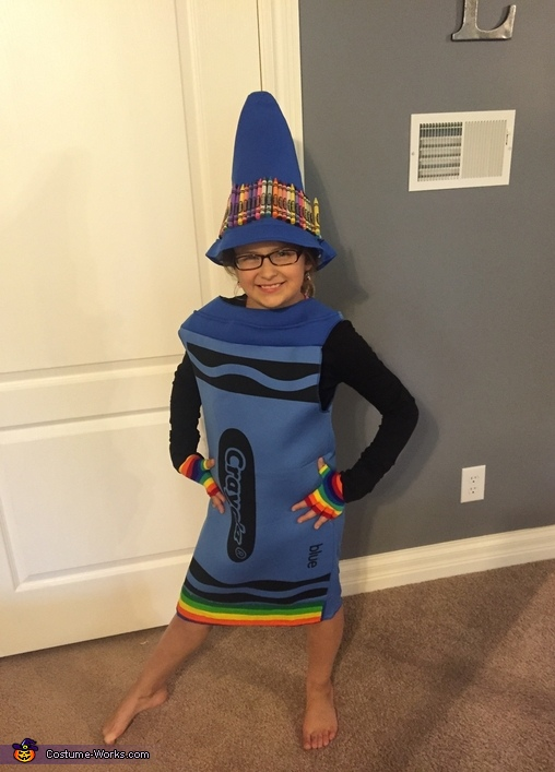 Almost finished, Fancy Blue Crayon Costume