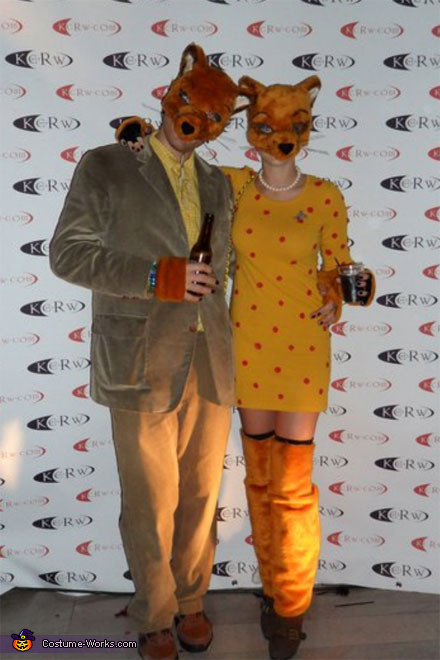 Wes Anderson S Fantastic Mr Fox And Mrs Fox Costume For Couples