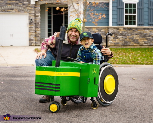 Neighborhood parade, Farmer and his Tractor Costume