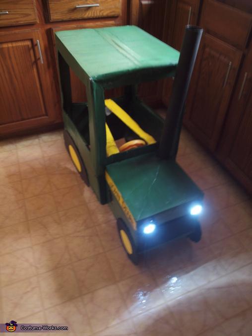 working lights, Farmer in a John Deere Tractor Costume