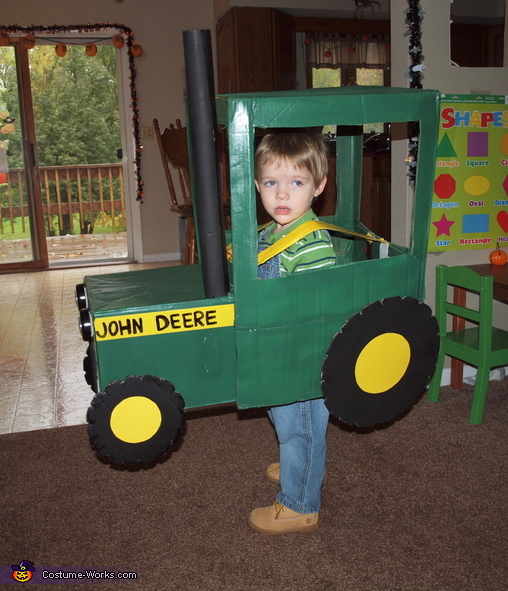 Farmer in a John Deere Tractor Costume