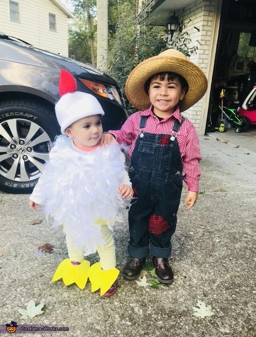 Farmer & His Chick Costume