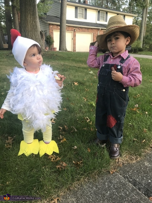Got their candy !, Farmer & His Chick Costume