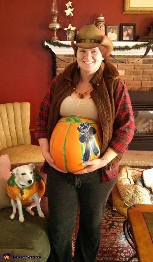Farmer with 1st Place Pumpkin Costume