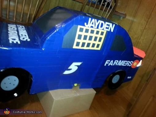 Farmers Insurance Race Car Homemade Costume