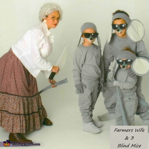 Farmers Wife & 3 Blind Mice Costume