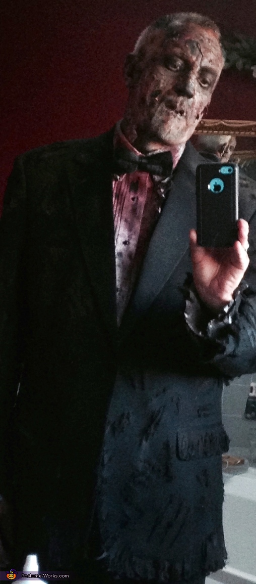 Father Zombie in Tuxedo Costume
