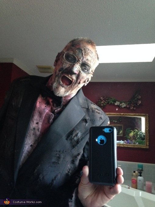 Father Zombie in Tuxedo Homemade Costume