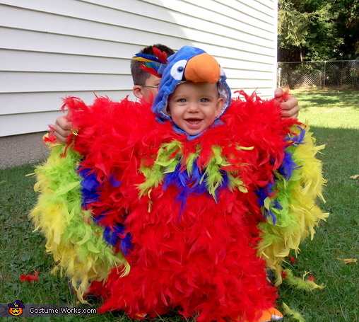 Feathery Fluffy Parrot Baby Costume