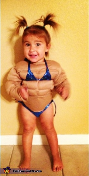 Female Body Builder Baby Costume