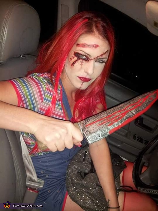 Female Chucky Homemade Costume
