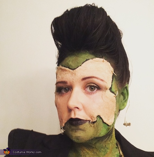 Close up shot., Female Frankenstein's Monster Costume