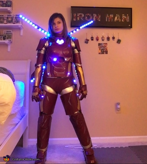 Female Iron Man Pose 2, Female Iron Man Costume