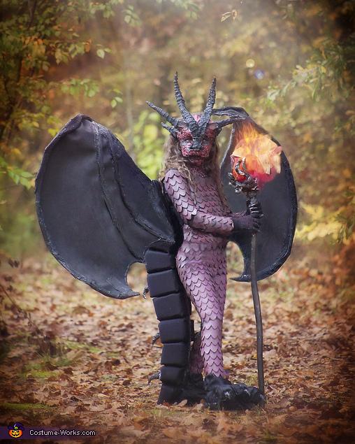 Dragon half body, Fierce fiery Dragon Costume