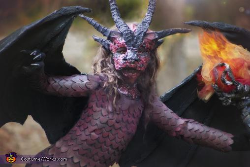 Dragon Close up, Fierce fiery Dragon Costume