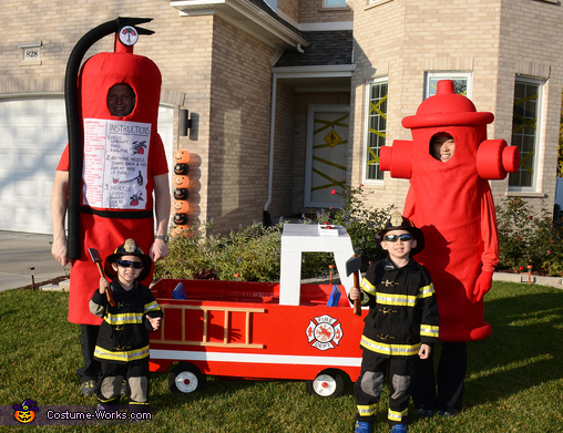 Fight Fire Family Homemade Costume