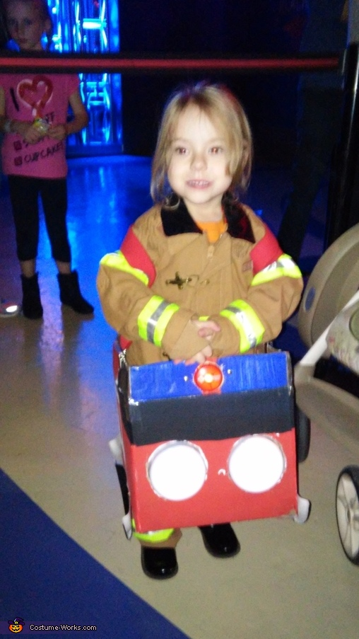 Fire and  Fireman Homemade Costume