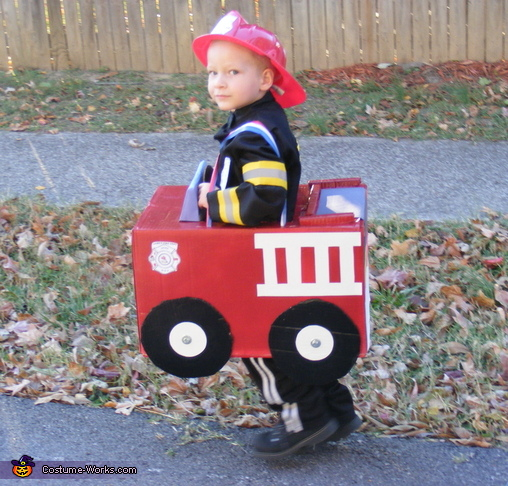 the ladder and hose!, Fire Engine Costume