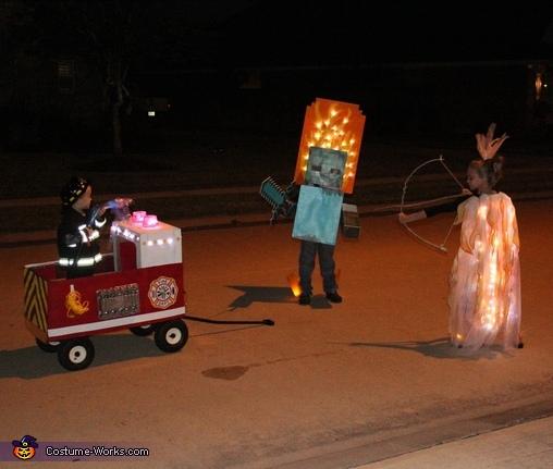 Fire Family Homemade Costume