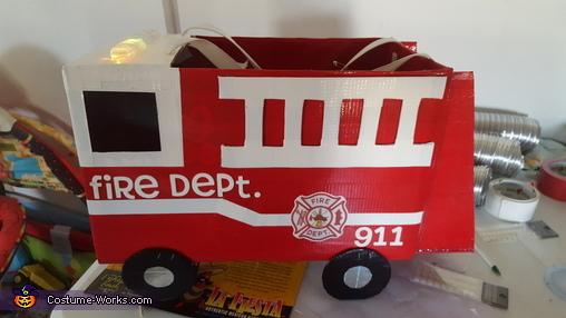 Fire Truck Homemade Costume