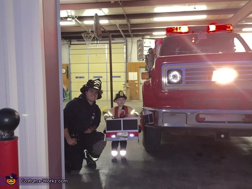 At the Fire Dept, Fire Truck Costume