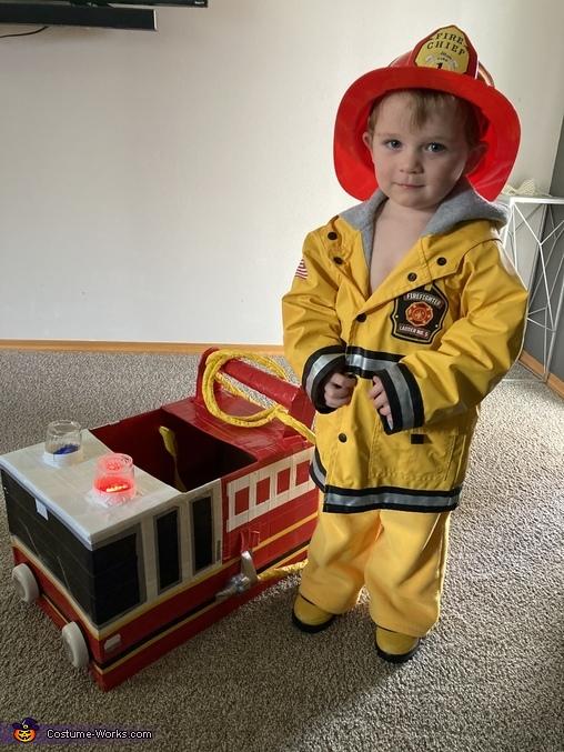 Fire Truck Man Homemade Costume