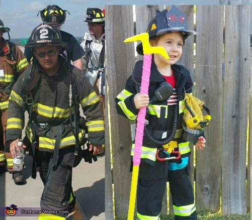Firefighter Truckie Homemade Costume