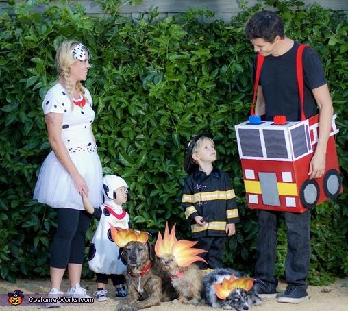 Fireman Family Homemade Costume
