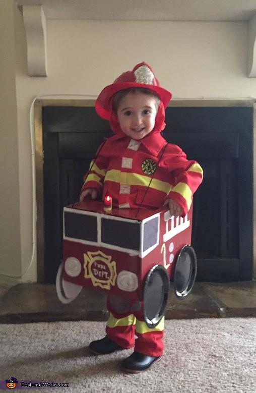 Fireman in Firetruck Costume
