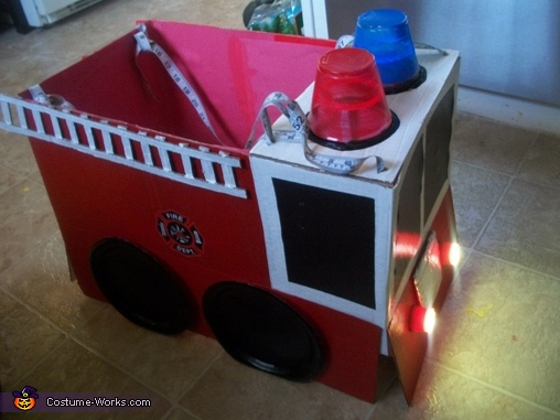 side view, Firetruck to the Rescue Costume