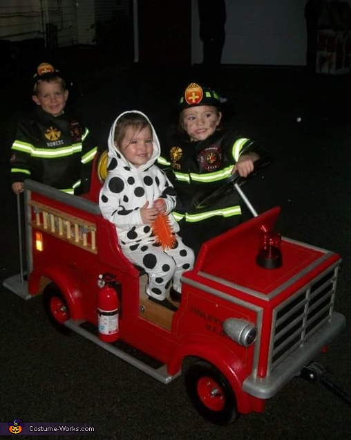 Firetruck with Firemen and Dalmation Homemade Costume