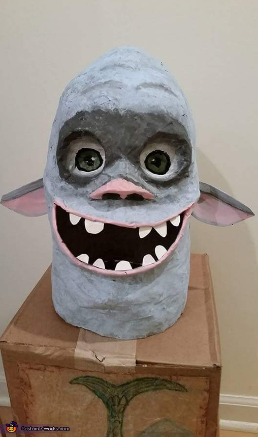 Box troll head, Fish the Boxtroll Costume