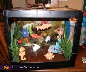 Below is THE fish tank Body-LESS, Fish Tank Costume