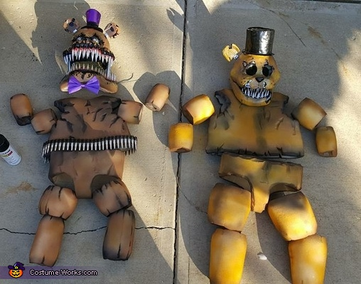 Five Nights at Freddy's and Nightmare Fred Bear Costume